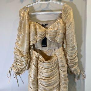 Nasty Gal Gold Shimmer Dress